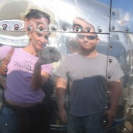 Aluminarium Brian & Leigh hit the road in September 2011 in their 27′ Airstream with their dog named Curtis.