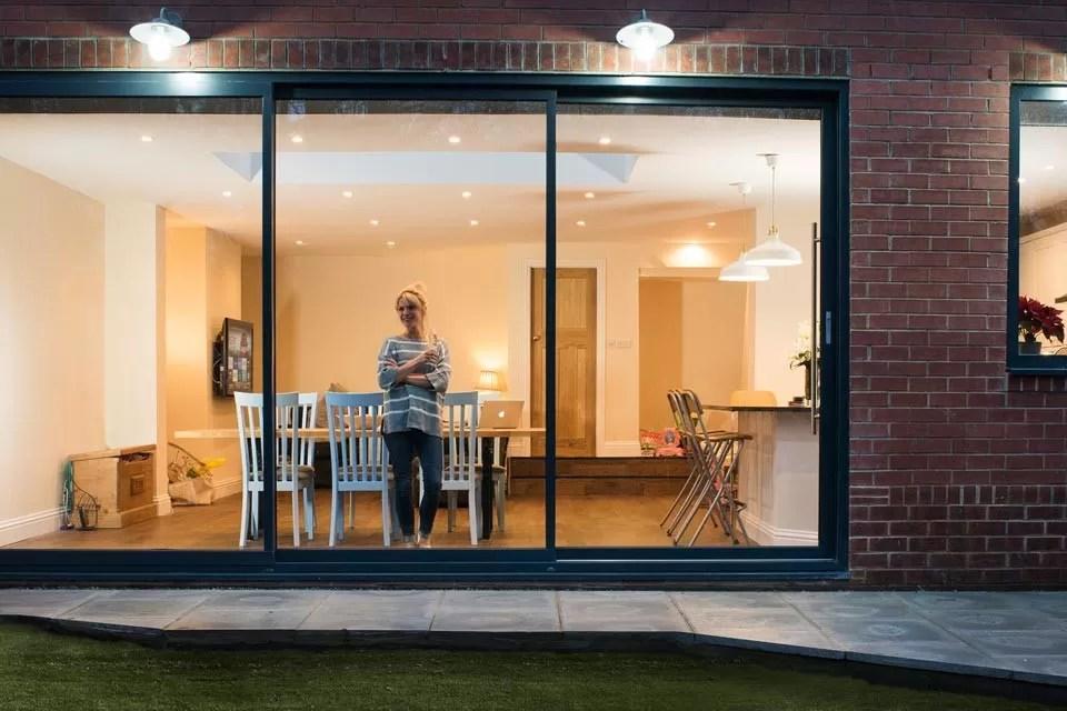 indoor aluminium sliding glass doors