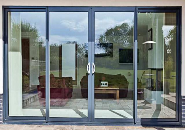 ral color aluminium sliding glass doors