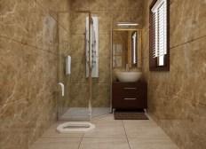 Desain Kamar Mandi Minimalis Kloset Jongkok Dengan Shower
