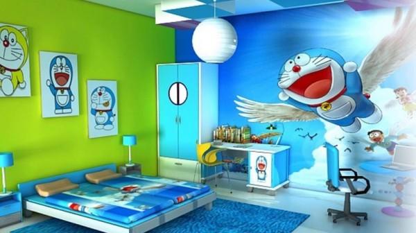 Desain Kamar Tidur Serba Doraemon