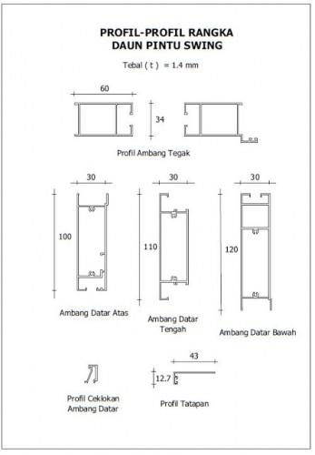 Profil Pintu Aluminium lipat