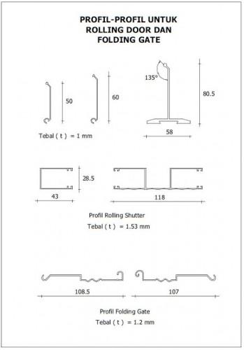 Profil Rolling Door Aluminium