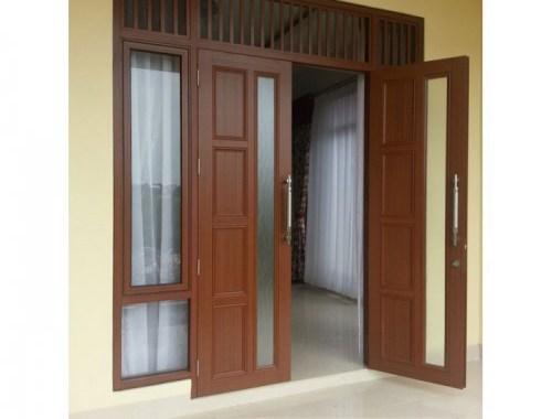 Contoh pintu utama aluminium