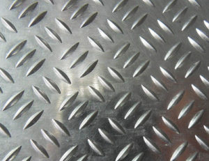 three bars aluminium tread plate