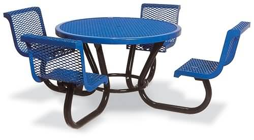 46in round table w contour chair seats 230 rdvc46