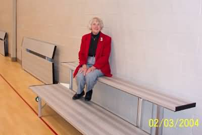 Hide A Bench Folding Wall Mounted Bleachers At Builtrite