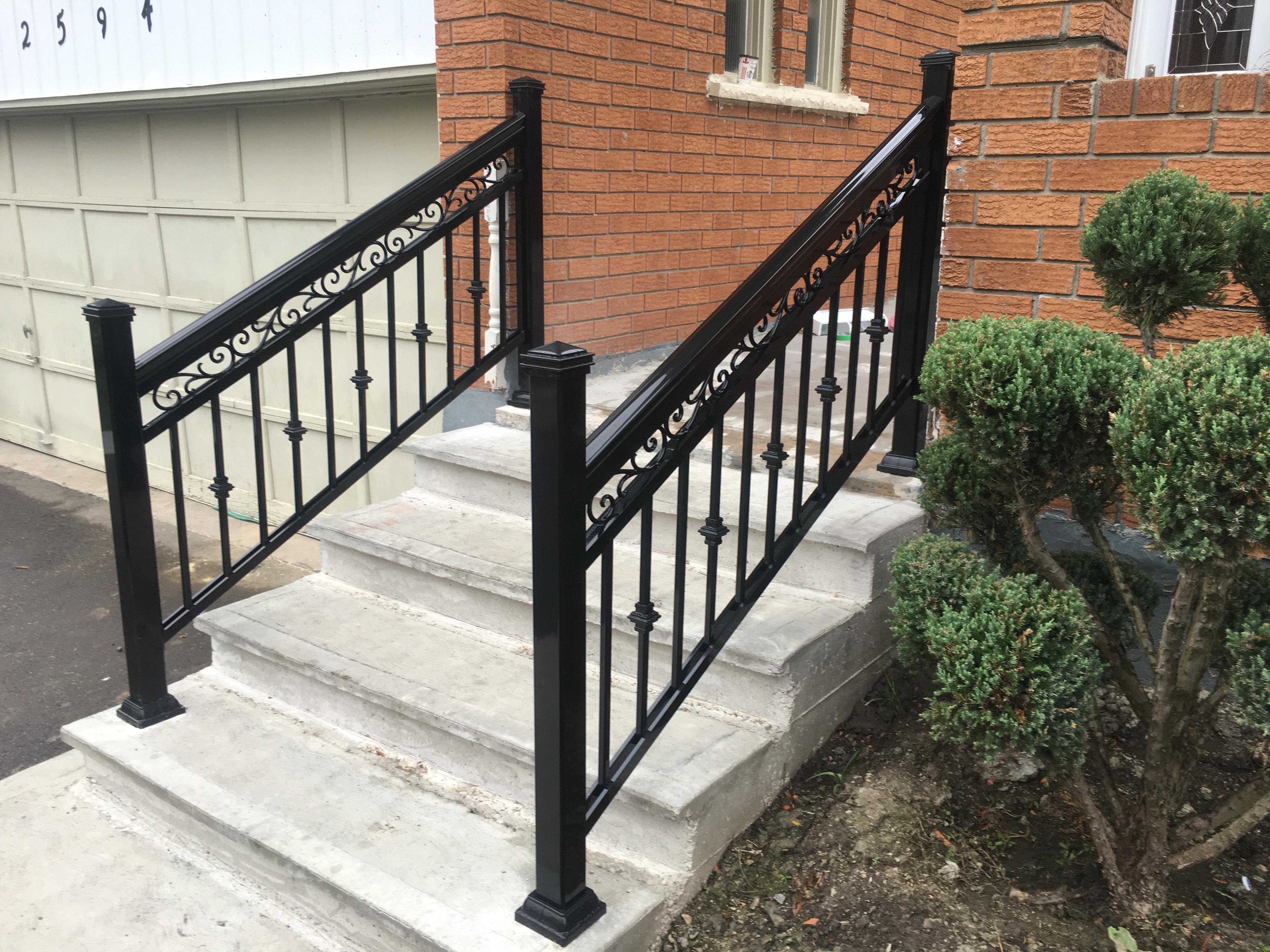 steps-aluminum-railings-fancy-design-toronto - GTA RAILINGS