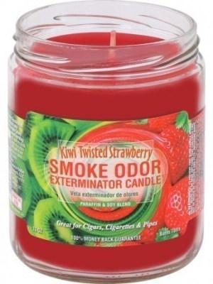Smoke Odor 13oz Candle Kiwi Twisted Strawberry