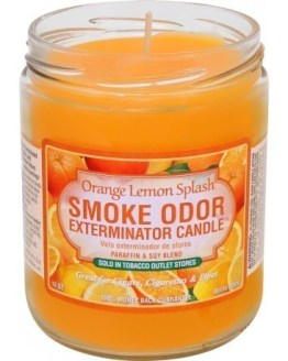 Smoke Odor 13oz Candle Orange Lemon Splash