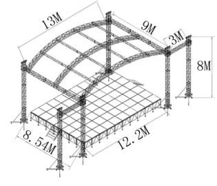 Arc Roof Tower System Stage Lighting Truss Spigot 6