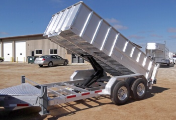dump trailers for sale les paul pickup wiring diagram custom all aluminum truck bodies boxes alum line bumper pull are built strong utilizing thick main frame with added gusseting and welded construction