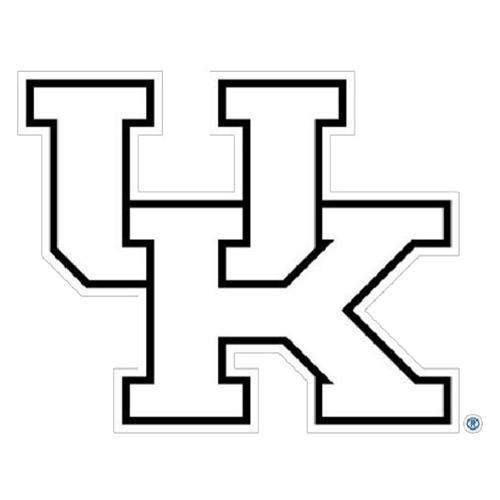 Kentucky White UK Logo Decal (6
