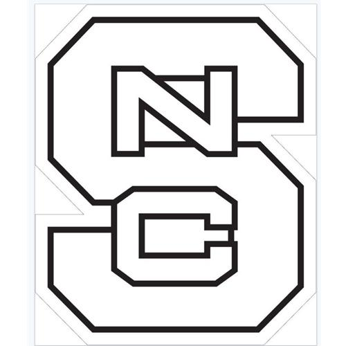 NC State Logo White Decal (6