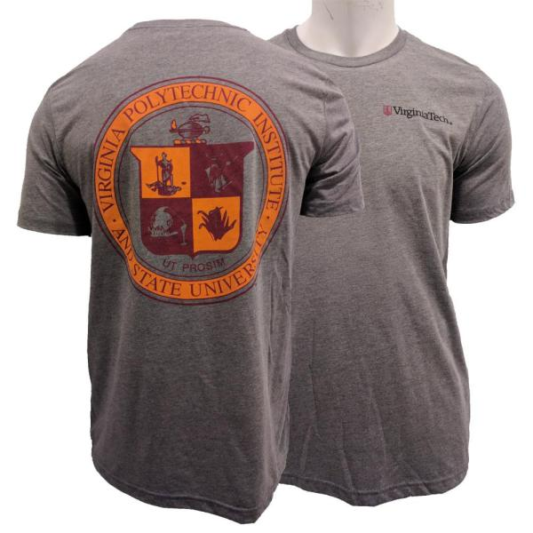 Vt-virginia Tech School Seal Tri-blend T-shirt-alumni Hall