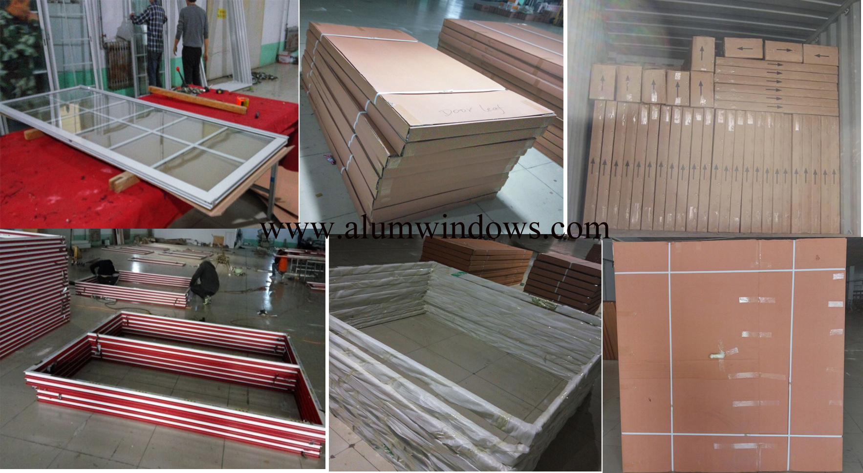 Packaging For Windows And Doors Aluminum Sliding Window