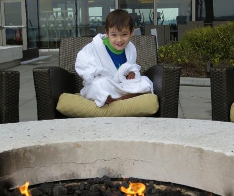 Child Size Bathrobe - Four Seasons Seattle by Fire Pit