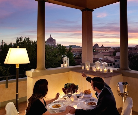 Romantic dinner at the Four Seasons Florence