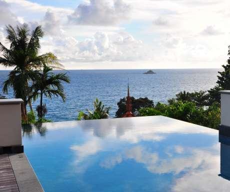 Trisara villa infinity pool and sea