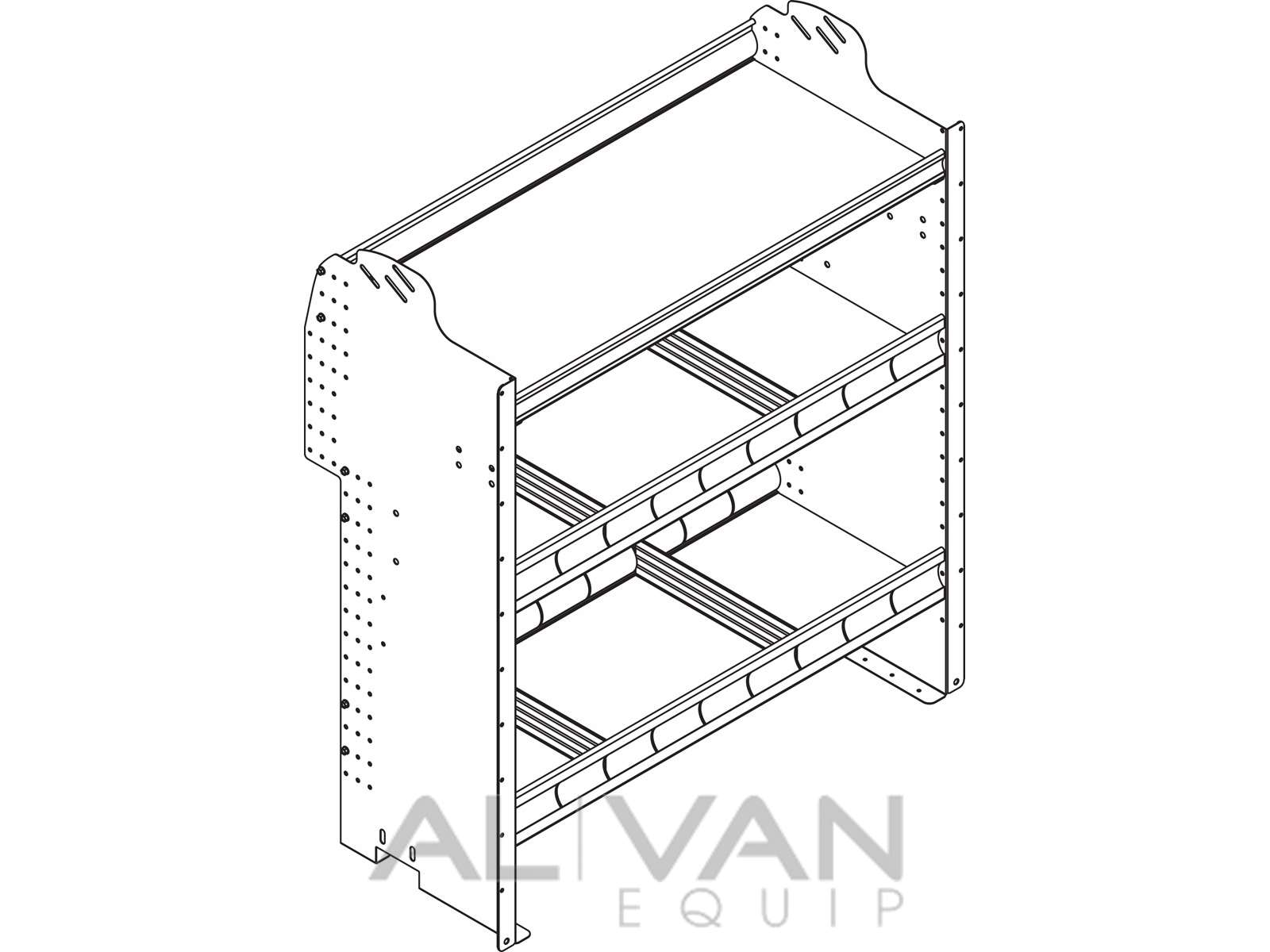Contoured-Van-Shelving-Units-Ford-Transit-Connect-F36-F