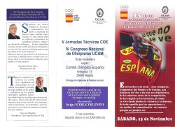 V Jornadas Técnicas COE UCAM Madrid