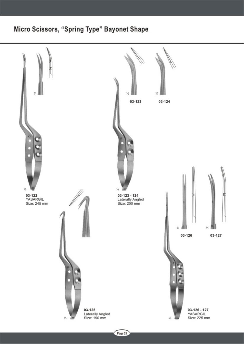"micro-scissors- ""spring-type""-bayonet-shape"