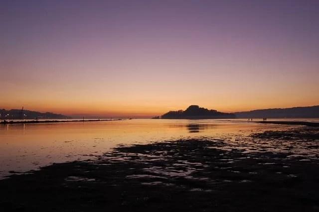 puesta de sol en terras de pontevedra