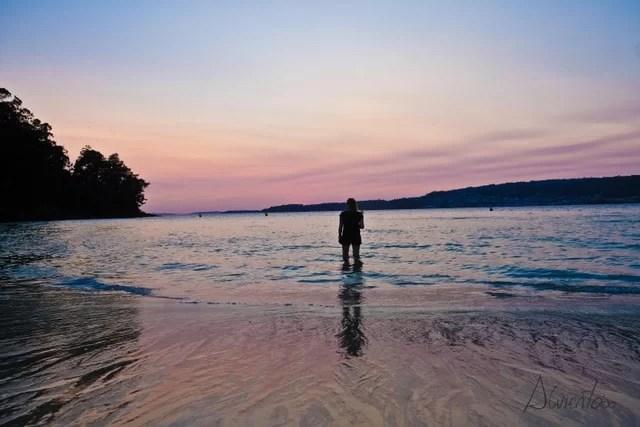 puesta de sol marin