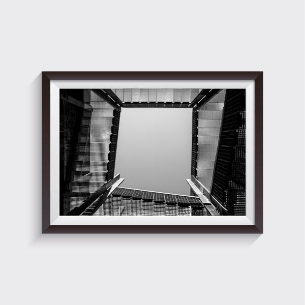 scala architettura mestre parco bissuola bianco e nero stampa fotografica