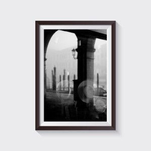 venice fine art print shop gondolier hat black and white