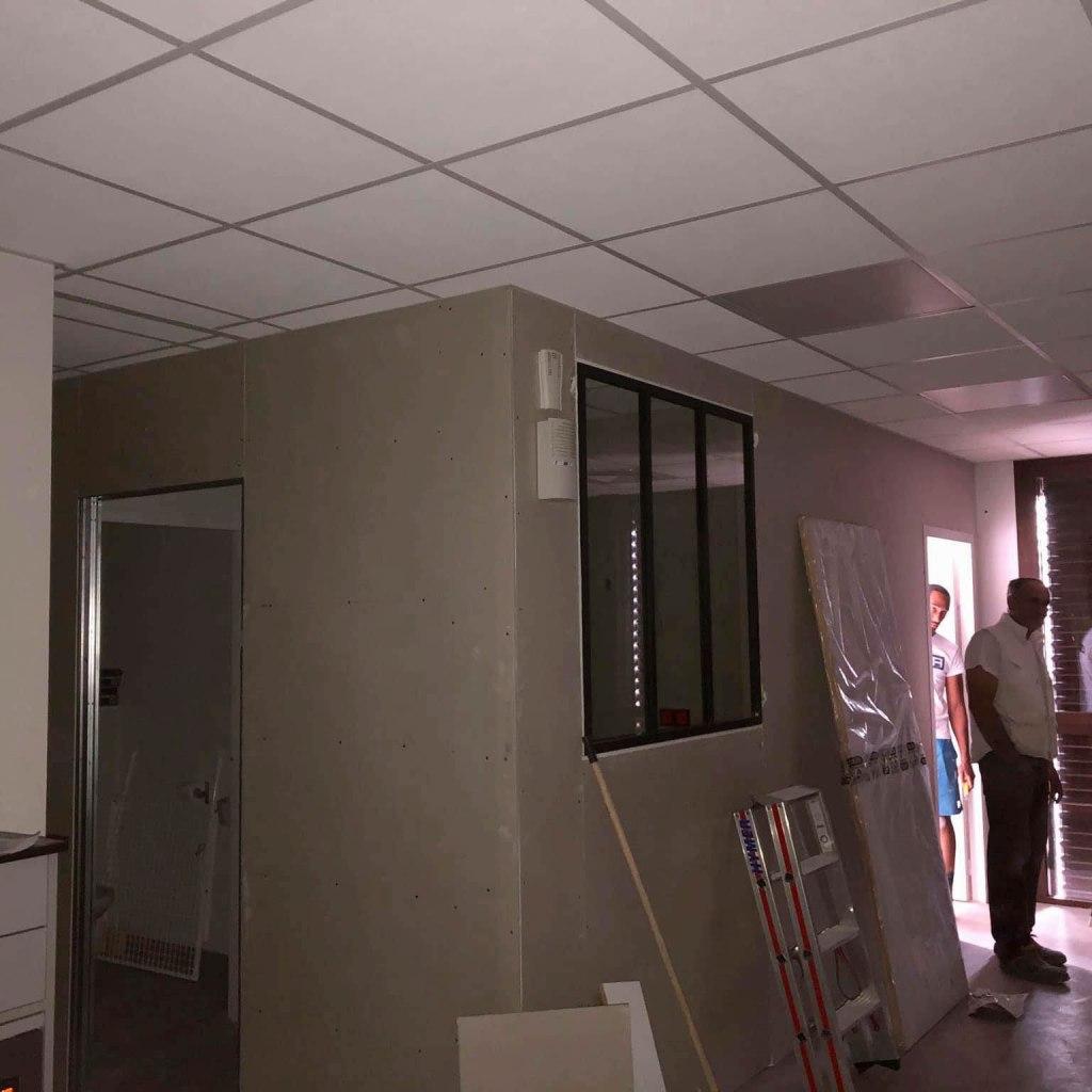 ALVITPLAQUISTE-Chantier-Cabinet-Kinesitherapeute-Pezilla-Kine-Placo-Joints-Jointeur-1
