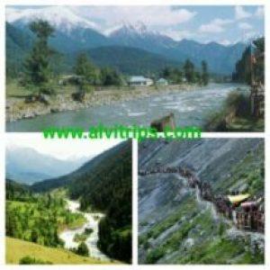 पहलगाम पर्यटन स्थलो के सुंदर दृश्य