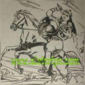 झांसी की रानी का काल्पनिक चित्र