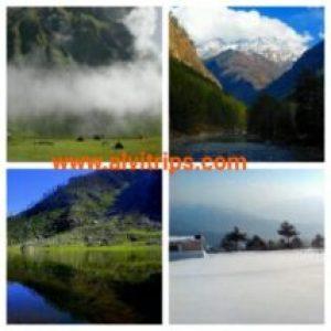 हिमाचल प्रदेश में ट्रैकिंग और एडवेंचर स्थलों के सुंदर दृश्य