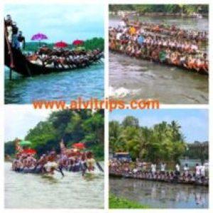 केरल नौका दौड़ महोत्सव के सुंदर दृश्य