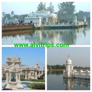 पावापुरी जल मंदिर के सुंदर दृश्य