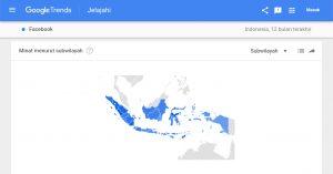 Statistik Google Trens Regional