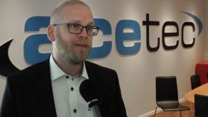 Henrik Oskarsson, VD på Acetec. Foto: Ingrid Fridesjö