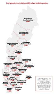 Karta från Kolesterol- och FH-rapporten.