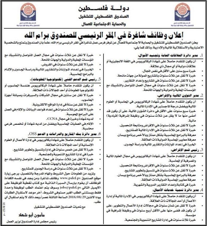 الصندوق الفلسطيني للتشغيل