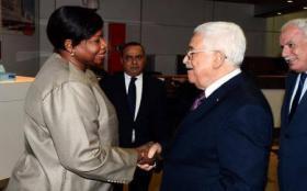 فاتو بنسودا والرئيس محمود عباس