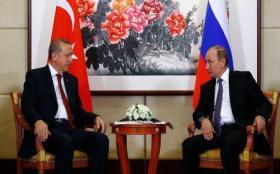 الرئيس التركي، رجب طيب أردوغان، نظيره الروسي فلاديمير بوتين،