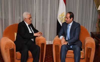 عبد الفتاح السيسي و محمود عباس