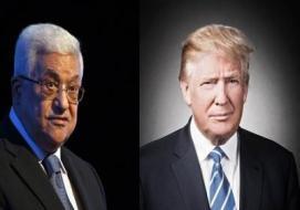 محمود عباس و دونالد ترامب