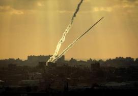 صاروخ فلسطيني