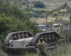 انقلاب دبابة اسرائيلية