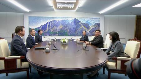 مون جاي إن و كيم جونغ ون - القمة بين الكوريتين
