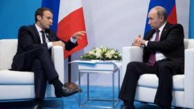 بوتين وماكرون يتفقان على الالتزام باتفاق إيران النووي