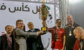 الرجوب يهنئ هلال القدس بمناسبة فوزه بلقب كأس فلسطين