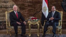 """السيسي يؤكد لـ""""نائب ترامب"""" موقف مصر الداعم للقضية الفلسطينية"""